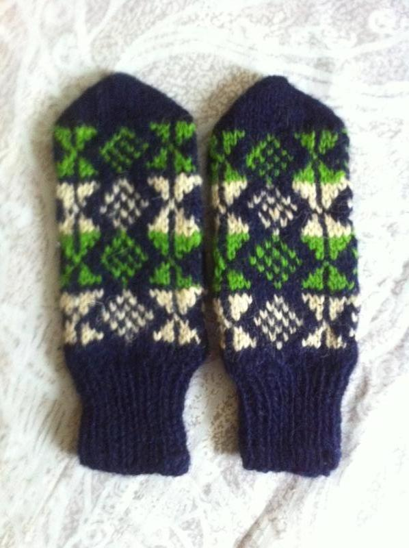 рукавички варежки вязаные чистошерстяные очень теплые ручная работа