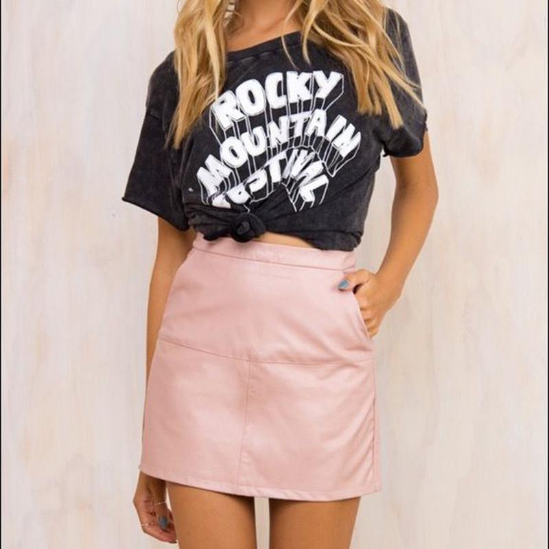 744185d5b7e7 Кожаная розовая юбка пудрового цвета new look (New Look) за 255 грн.   Шафа