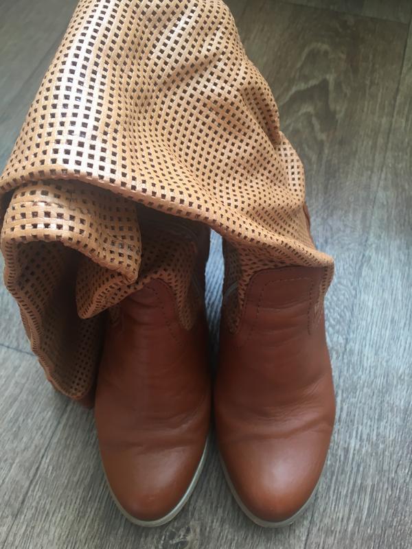 Сапоги кожаные демисезонные Турция, цена - 545 грн, #18917519, купить по доступной цене | Украина - Шафа