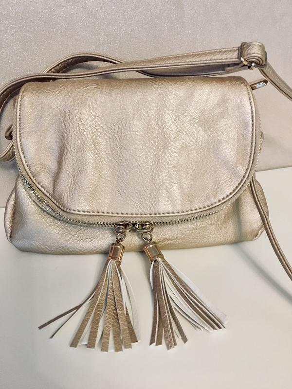 460bf9da69f2 Супер стильная сумка cross body золотистого цвета ZARA, цена - 380 ...
