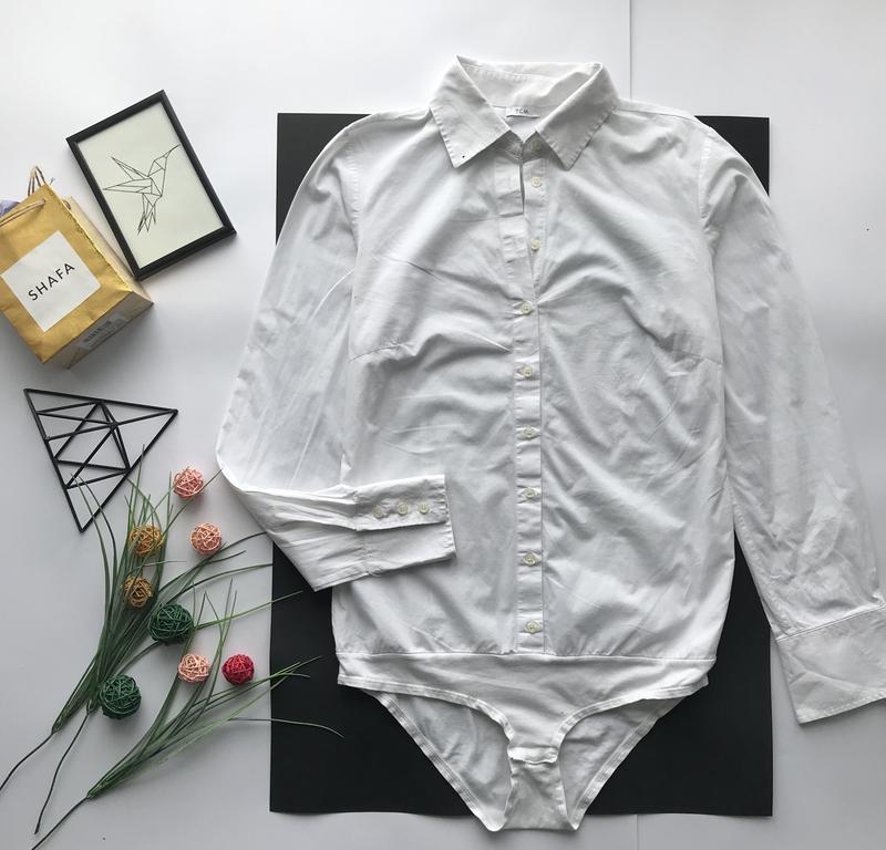 99b1d46161e7 Шикарная базовая белая рубашка боди / біла сорочка кобідрес за 350 грн.