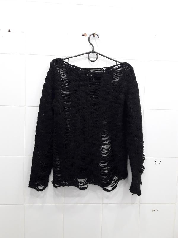 Тренд сезона свитер с дырками шерстяной Mango 0ccb03b78ab18