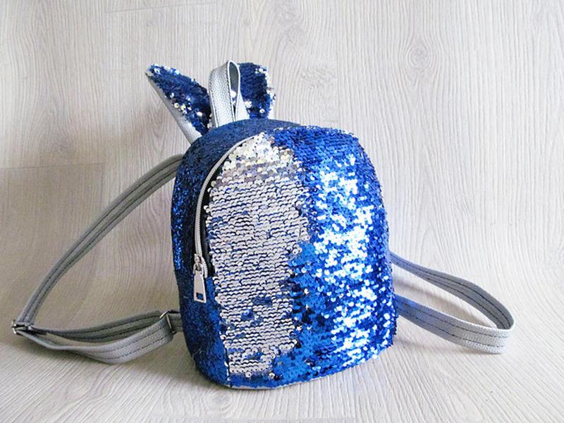 Стильный женский рюкзак пайетки с ушками, цена - 455 грн,  18997283 ... 09722cc38b2