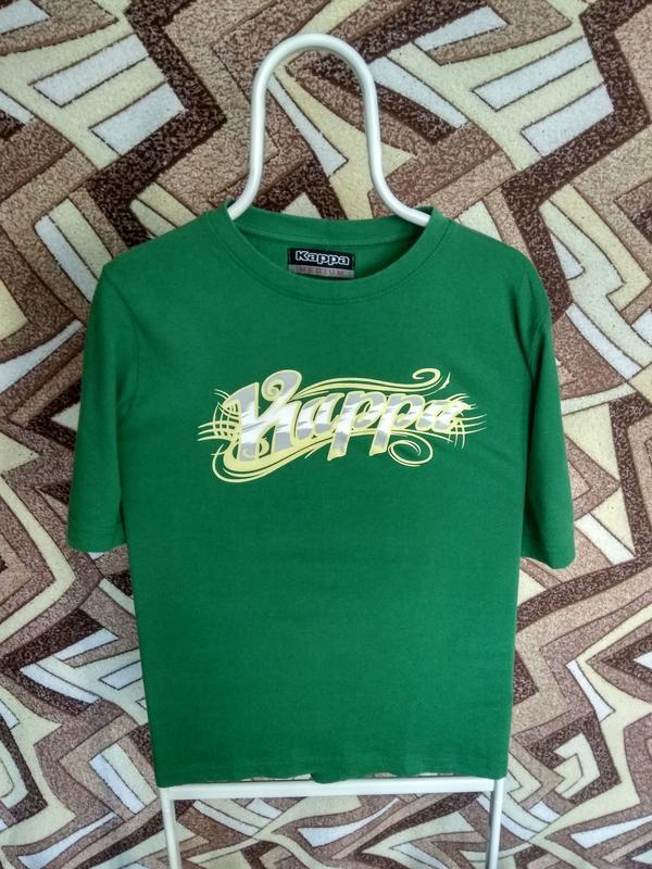d42c03aa4005 Футболка kappa зеленая большая надпись Kappa, цена - 200 грн ...