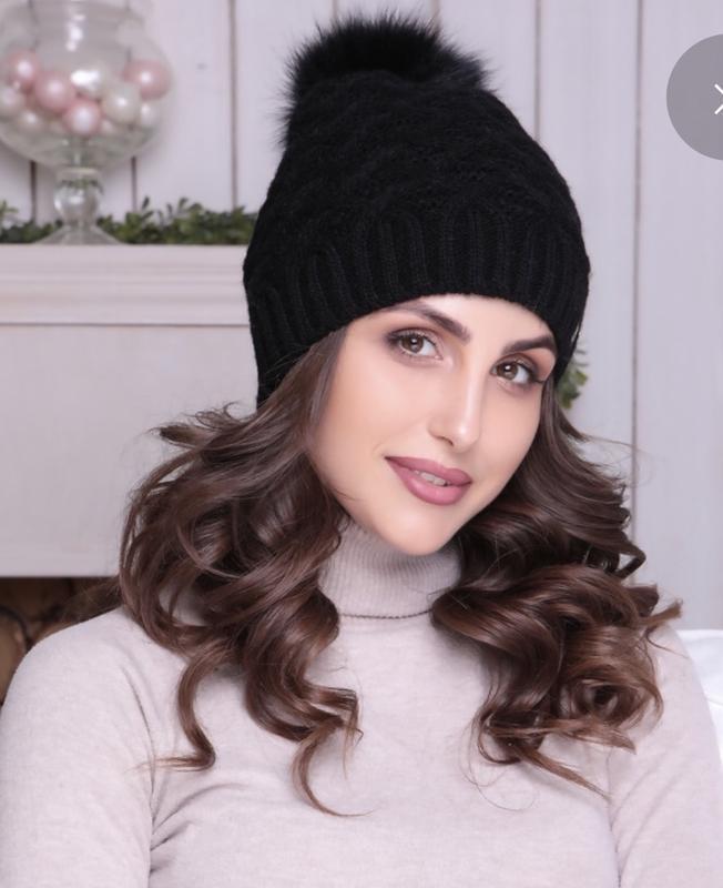 a8c0b3d18336 Sale! чёрная женская шапка на флисе с меховым помпоном (ZARA) за 250 грн. |  Шафа