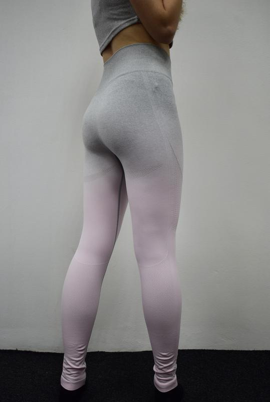 58818afb1063d ... Спортивные лосины женские для спорту, йоги, фитнеса омбре серые с  розовым5 фото