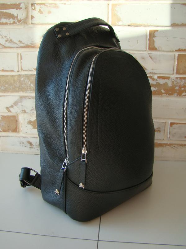 df4911e507b8 Стильный кожаный рюкзак / черный рюкзак/ кожаный рюкзак, цена - 5500 ...