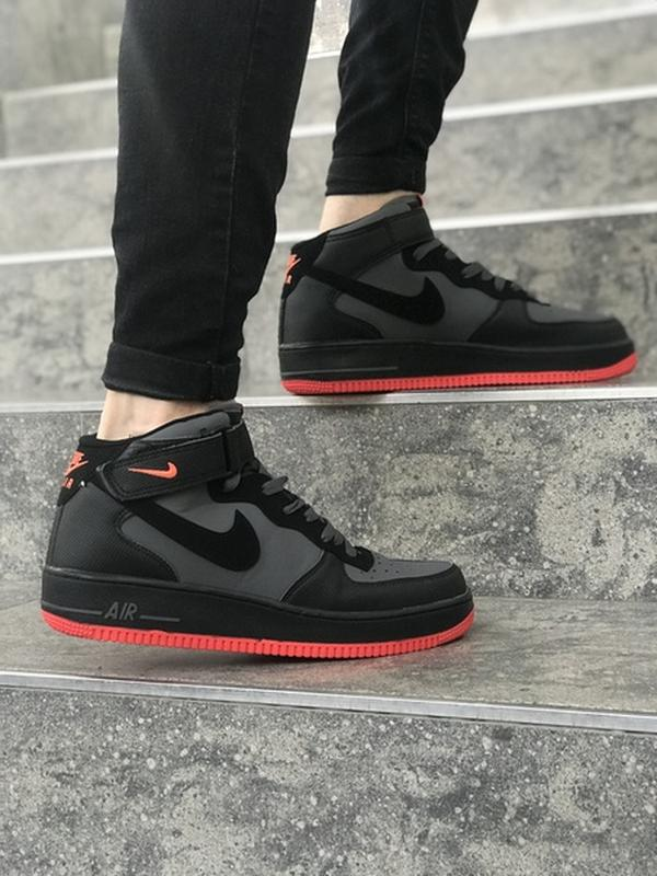 8a29faa0 Черные мужские кроссовки nike air force 41 42 43 44 45 размер1 фото ...