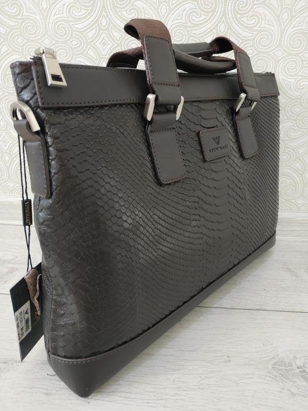 44b289c4e467 Кожаный мужской портфель сумка через плечо двухсторонний, натуральная кожа1  ...