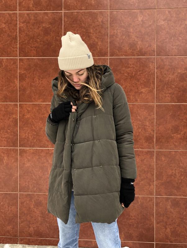 006817d5f77add0 Зимний пуховик. женская куртка. new look. для беременных. длинная1 фото ...