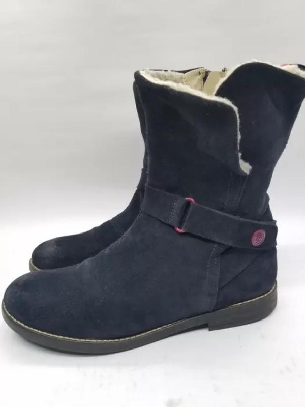 Женские зимние кожаные тёплые сапоги Tommy Hilfiger 615937afd7384