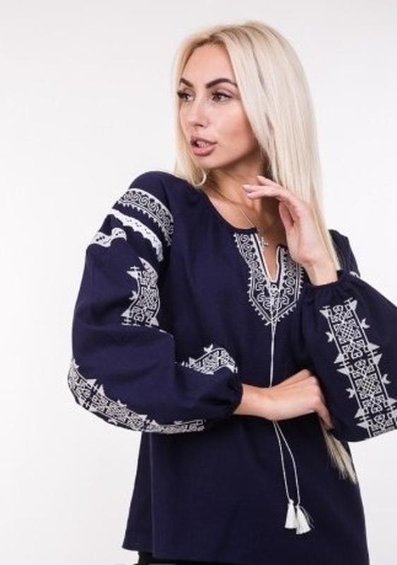 9863caddf51 ... Вышиванка вышитая блуза блузка с вышивкой вишиванка полулен  геометр.узор цвета р.s- ...