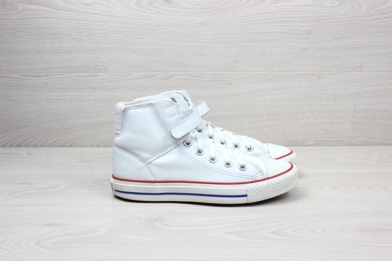 Белые кожаные высокие кеды converse all star оригинал a1def7f9ce87b