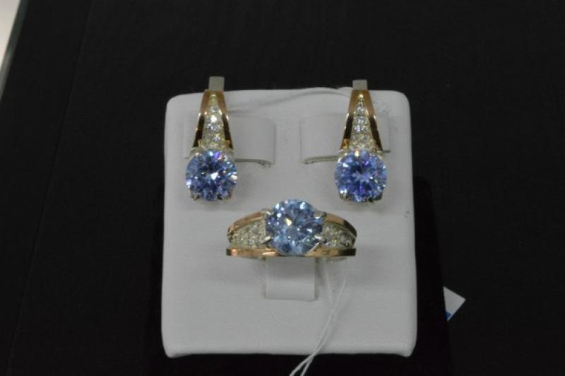 73c4ed9533cb Набор кольцо серьги серебро с золотом, цена - 925 грн,  284353 ...