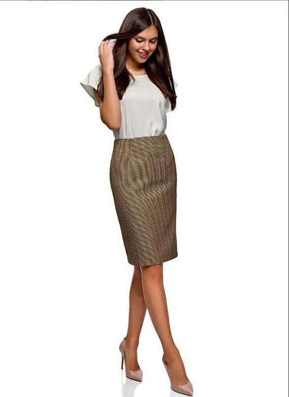 c319e16718b Очень стильная юбка-карандаш в клетку oodgi1 фото ...