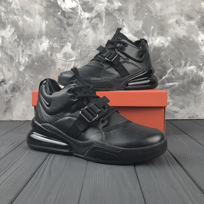 27a7ac4a Крутые черные кожаные высокие кроссовки nike 41, 42, 43, 44, 45 рр1 ...