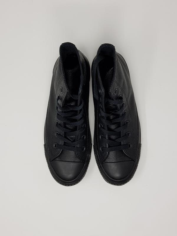 664352a6 Черные кожаные высокие кеды converse chuck Converse, цена - 1900 грн ...