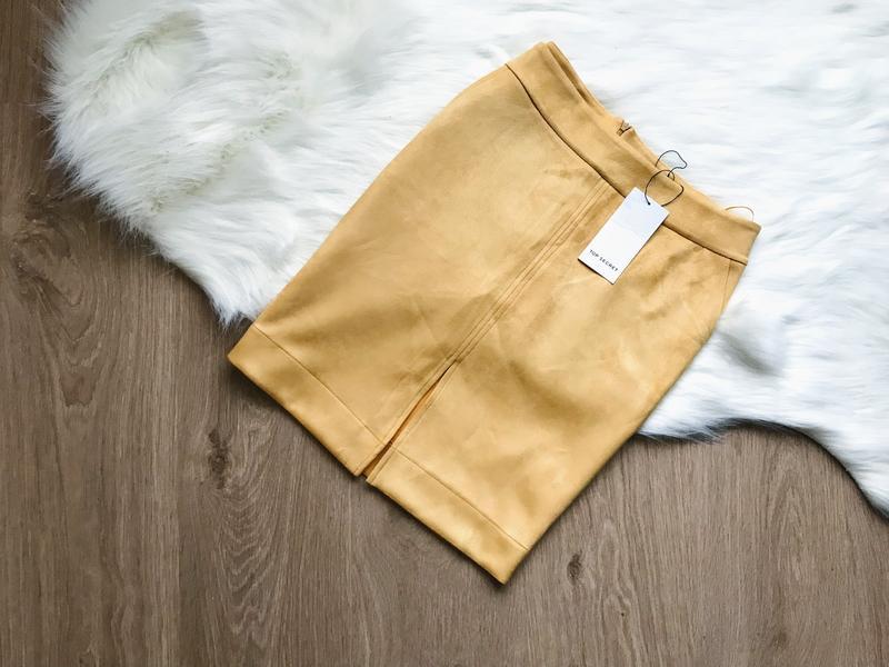 a6347538a8c Шикарная желтая юбка top secret под замш размер 38 Top Secret
