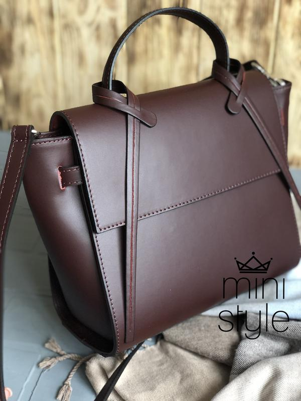 5e39080d4db9 Кожа кожаная сумка на ручке цепочке cross-body сумочка трендовая и стильная  кроссбоди1 ...