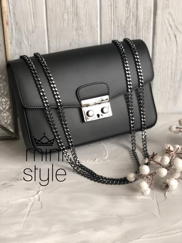 8fe4afb7e721 Кожа кожаная сумка на ручке цепочке cross-body сумочка трендовая и стильная  кроссбоди1 фото ...