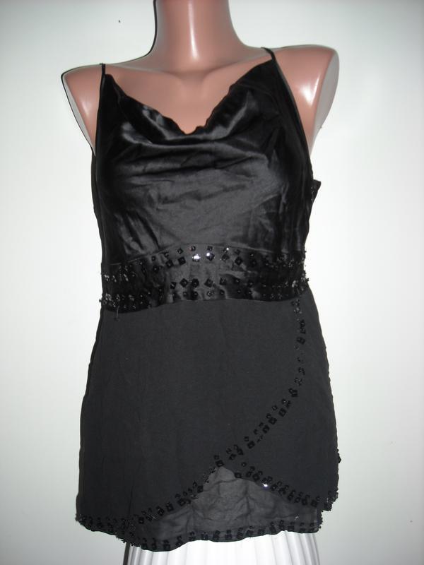 08d6c5444199345 Топ черного цвета из шифона и шелка, цена - 50 грн, #2216259, купить ...