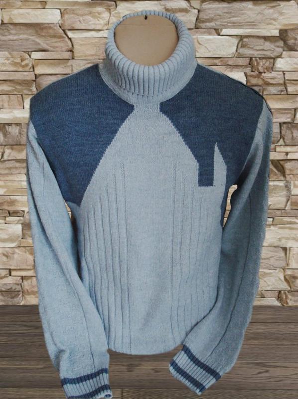 4823da69eb2de 💨⛄красивый теплый мужской свитер под горло серый полушерсть 💨⛄❄1 ...