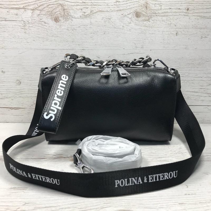 7995a0ef4537 Женская кожаная сумка черная кроссбоди белая розовая пудра жіноча шкіряна  сумка1 фото ...