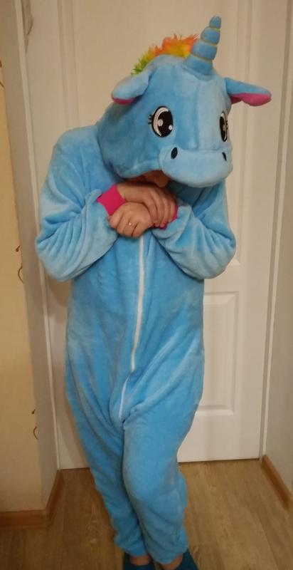 Кигуруми голубой единорог - теплая и стильная пижама для девочек и их мам)). 55083a7bc7082