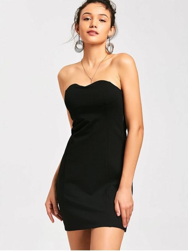 a4d4d5758c3 Маленькое черное трикотажное платье бюстье miso р.uk12 идет на р.44-46 ...