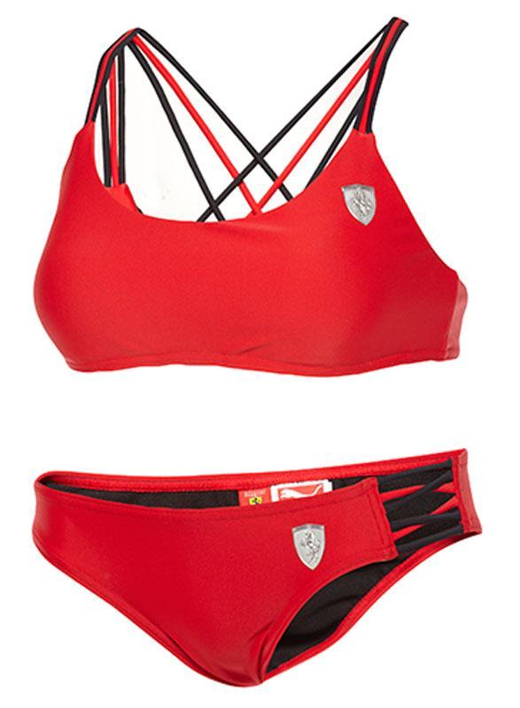 9e84e9ed7a6f Ferrari puma оригинал купальник красный черный раздельный м новый1 ...