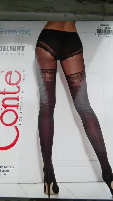 7023d9b40e6b7 ... Сексуальные колготы имитация чулка conte fantasy delight 2,4р2 фото ...