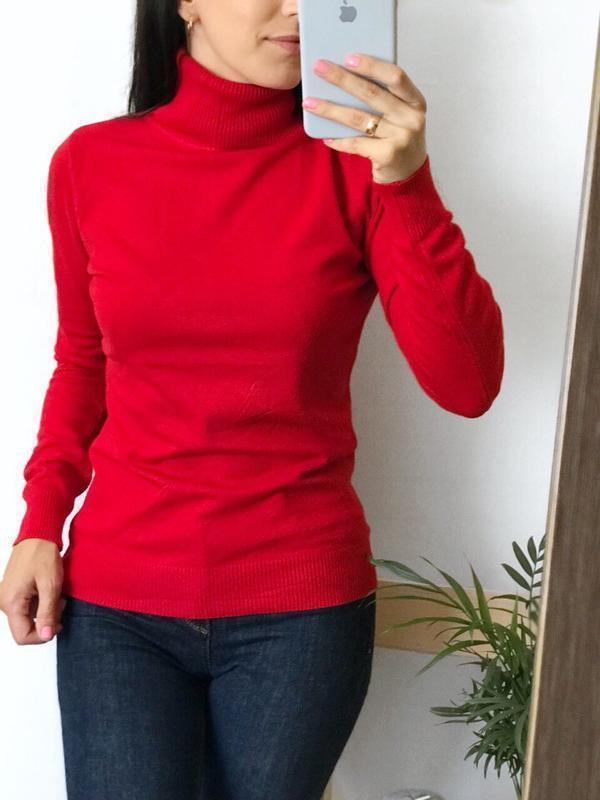 2223cb47a0779 Гольфы# женские#водолазки#кашемировые#красный#свитер под горло#с-м-л ...