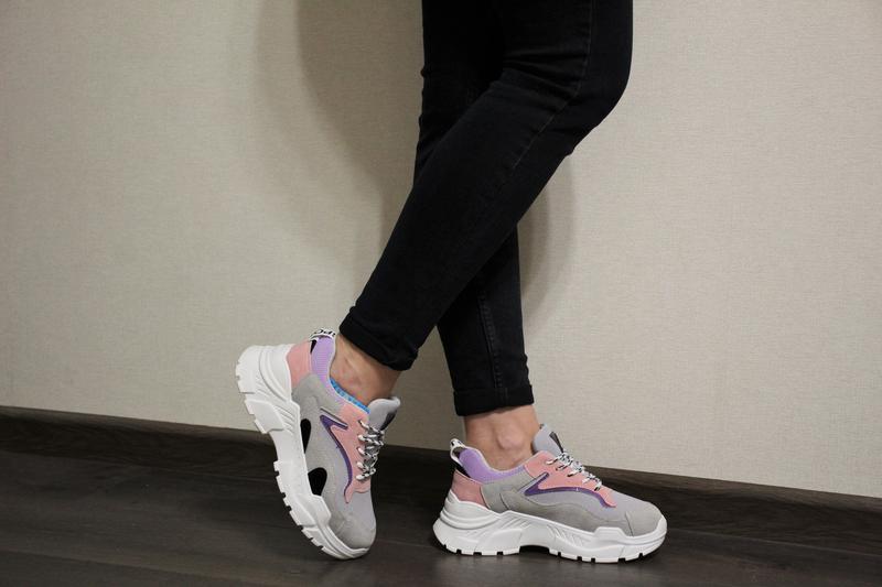 2c30f5d5 Модные женские разноцветные кроссовки (крипперы) на толстой подошве! хит  2019 года!1 ...