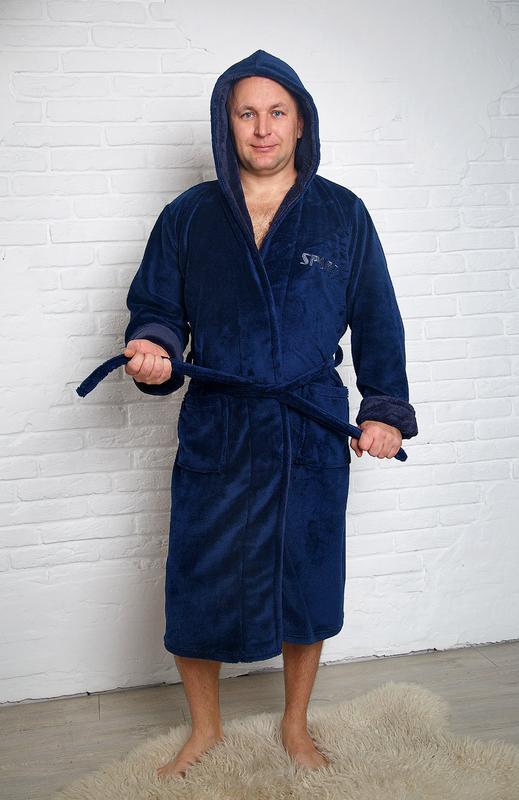 b209a7fe037f Домашний,махровый плюшевый длинный мужской халат-12 цветов1 фото ...