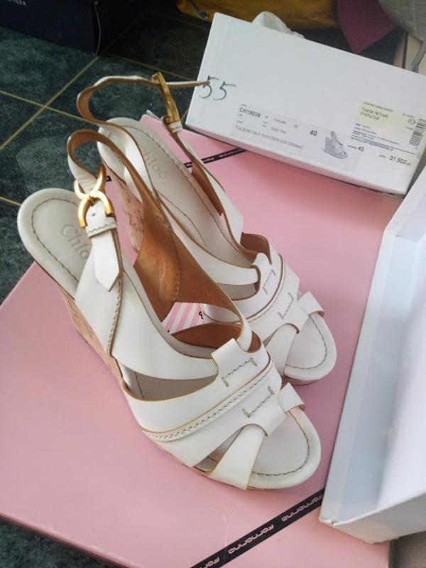 527c18bda071 Летние кожаные туфли chloe оригинал 40р. фирменные босоножки на танкетке1  ...