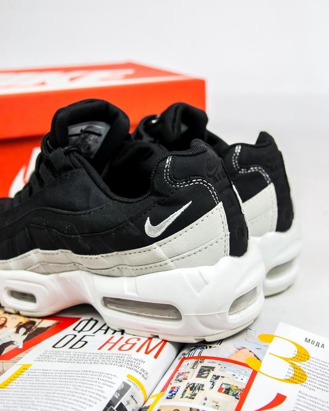 20013254 ... Молодежные женские кроссовки nike air max 95 (найк аир макс 95, черные  / серебро ...