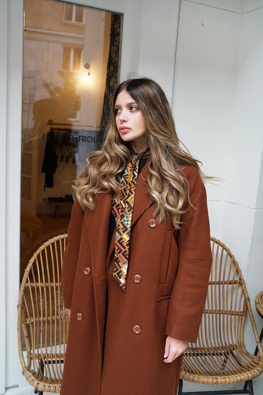 620533d2e98 Скидка! 🔥бомбезное трендовое шерстяное двубортное oversize пальто от h m  trend евро 44-481 ...