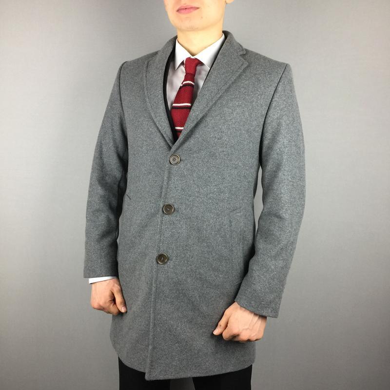 Шикарное серое шерстяное пальто hooper london мужское сіре чоловіче  шерстяне пальто1 ... 3e76207d5b2f2