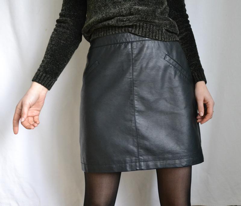 75847a34eed Кожаная юбка трапеция юбка из кожзама юбка с карманами классическая юбка1  фото ...