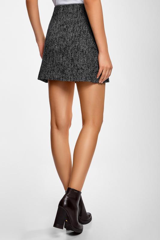 bead976f3fbf Серая мини юбка трапеция на пуговицах new look (New Look) за 130 грн.   Шафа