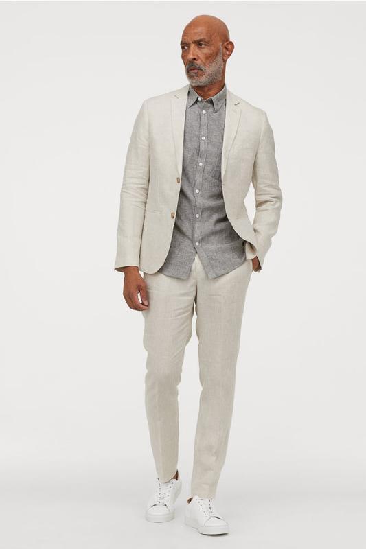 cd4aebb1ba7c Льняной мужской костюм h&m H&M, цена - 899 грн, #20088861, купить по ...