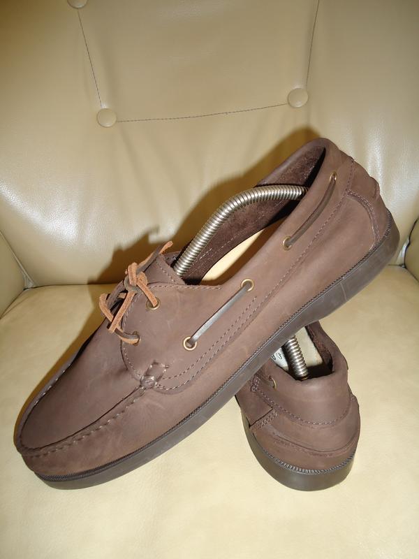 1046eafa6 Кожаные мужские туфли мокасины топсайдеры moshoes р. 43 стелька 281 фото ...