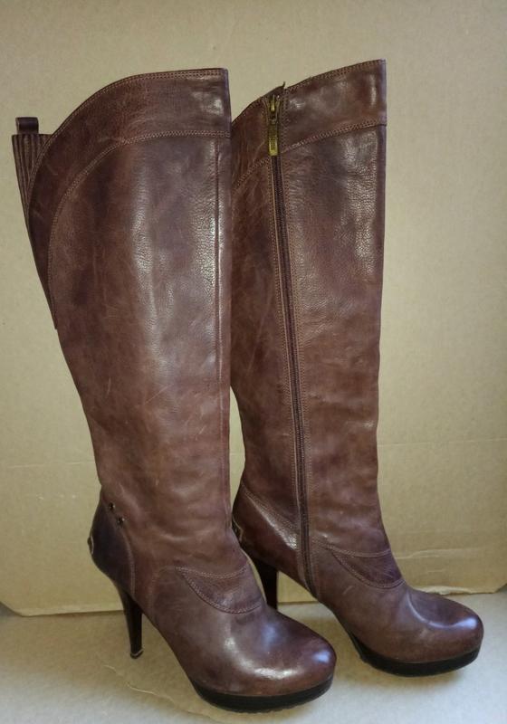 Женские кожаные демисезонные сапоги фирмы guess Guess 8cc7a655c18ac