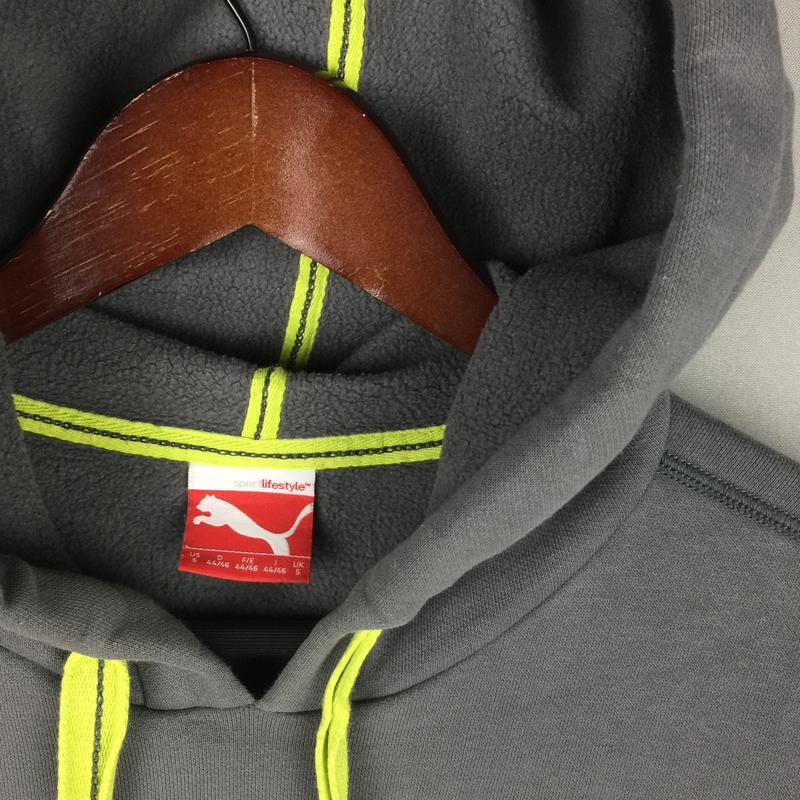 a3cf37ed ... Хлопковая толстовка puma мужская спортивная кофта балахон кенгурушка  принт пума2 фото ...