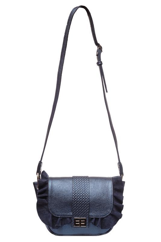0dba90f8777b ... Женская сумка кросс-боди, на плечо, натуральная итальянская кожа, цвет  синий перламутр2 ...