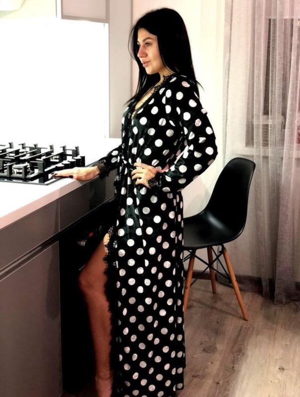 a778590e891b Стильный длинный женский халат, цена - 500 грн, #20739345, купить по ...