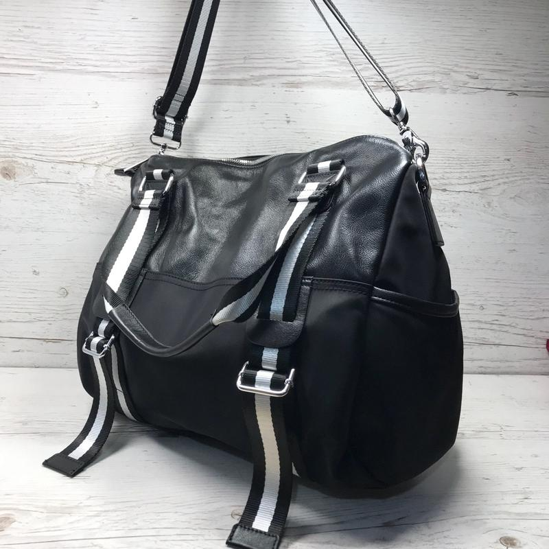 403b3052 Женская большая сумка спортивная дорожная сумка для зала спорта кожа кожаная  плащевка6 фото ...