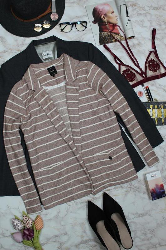 088f8dba0aea Обнова! трикотажный блейзер кардиган жакет пиджак мокко в полоску качество  lux (ONLY) ...