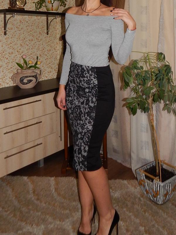 be94076da69 Красивая черная трикотажная юбка карандаш размер с1 ...