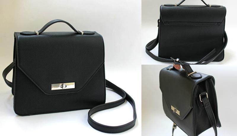 8b557892c748 Классная черная маленькая сумка next через плечо на длинном ремешке1 ...